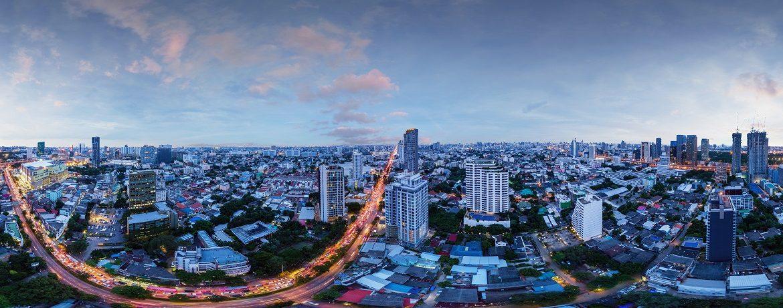 Panoramic Night View from Metris Ladprao Condo