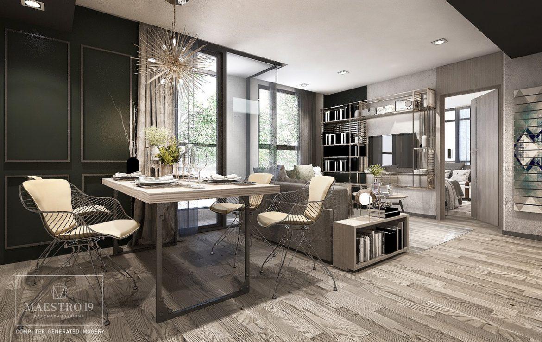 Maestro19 Condo - 2Bed Room Living Area