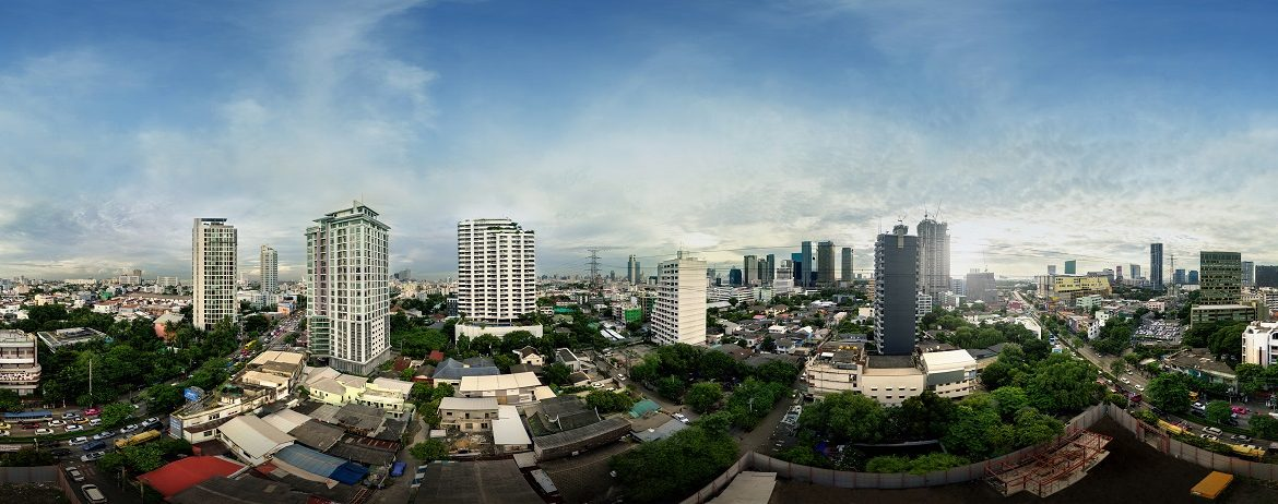 Panoramic day View from Metris Ladprao Condo