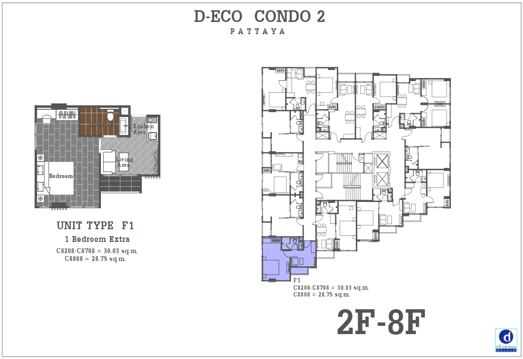 Unit Plan D-eco 2 Condo Pattaya F1