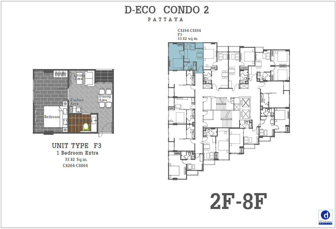 Unit Plan D-eco 2 Condo Pattaya F3