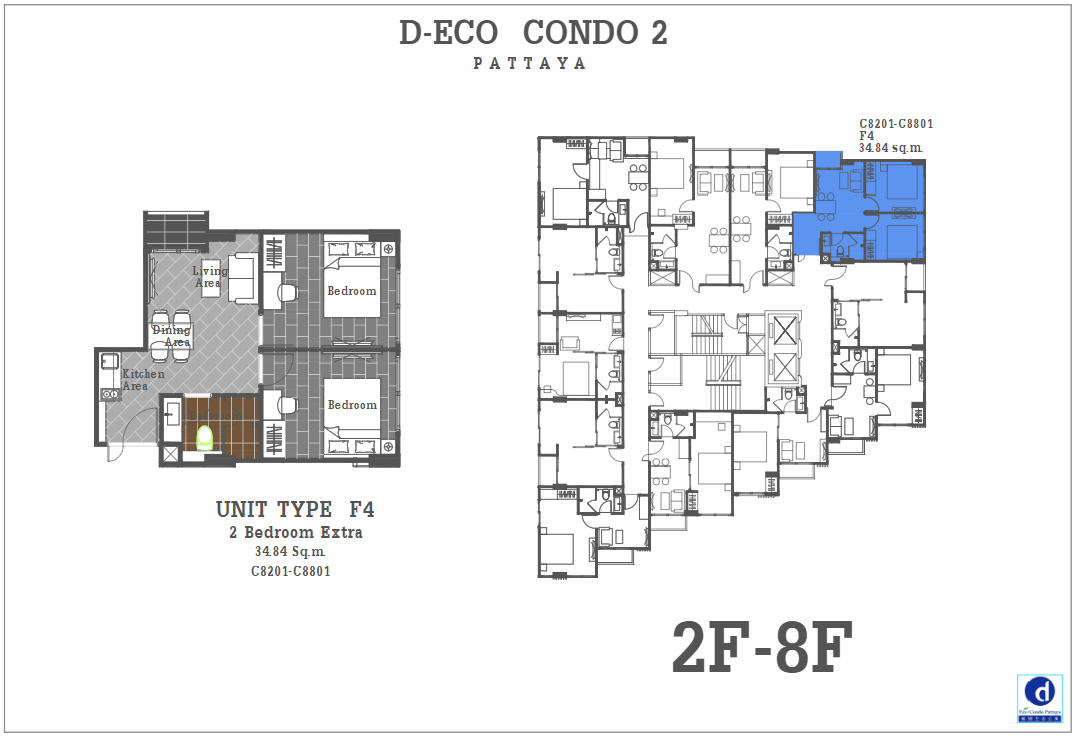 Unit Plan D-eco 2 Condo Pattaya F4