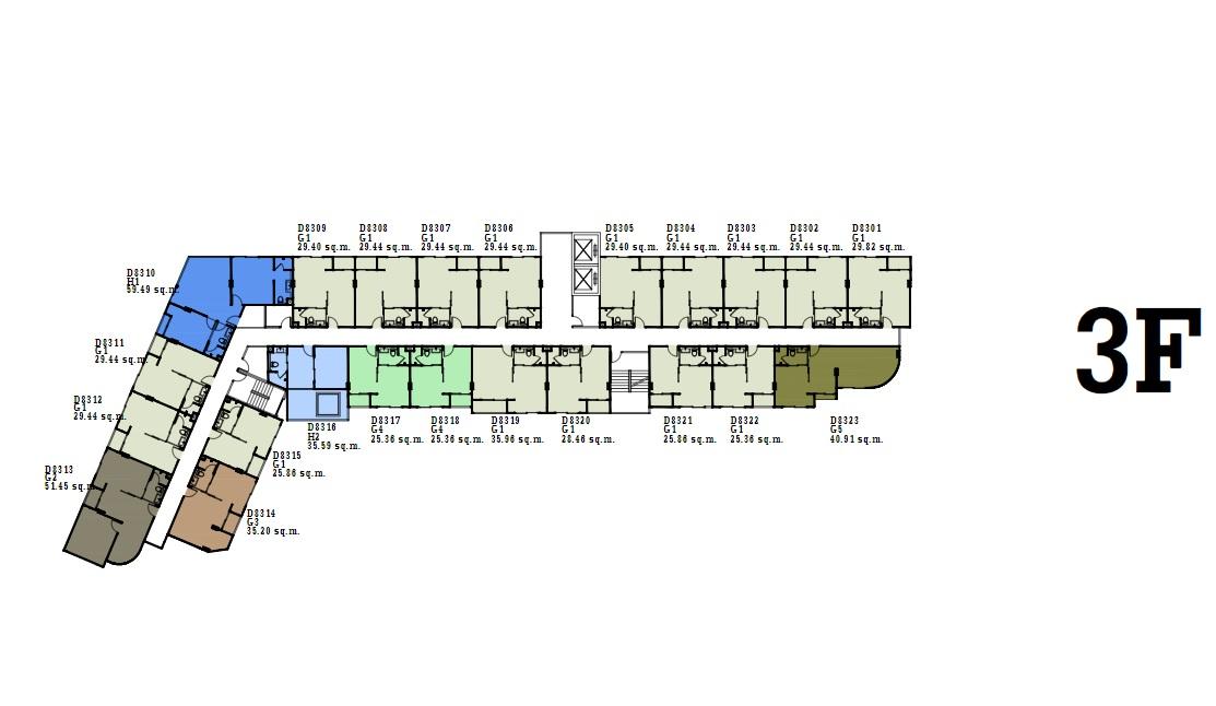 dEco 3 Condo Pattaya Floor Plan